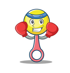 Boxing rattle toy character cartoon vector