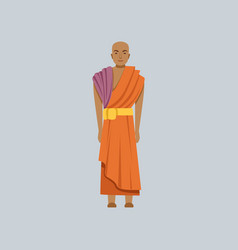 Buddhist monk representative of religious vector