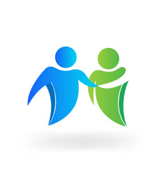 business partnership collaboration icon vector image