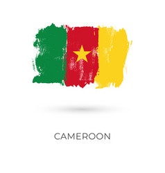 cameroon colorful brush strokes painted national vector image