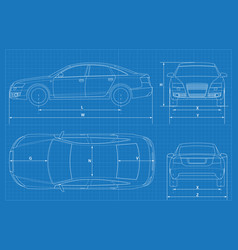 Car blueprint vector images over 660 car schematic or car blueprint vector malvernweather Choice Image