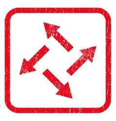 Centrifugal Arrows Icon Rubber Stamp vector