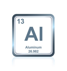 Chemical element aluminum from the periodic table vector