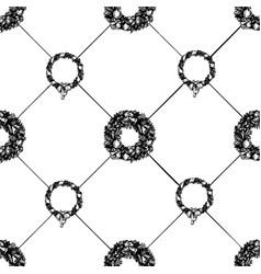 Christmas wreath seamless pattern vector