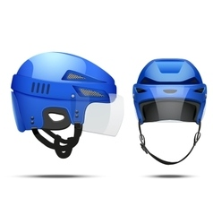 Classic Hockey Helmet vector