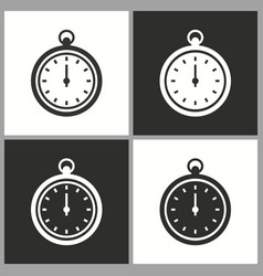 clock stopwatch icon pictograph for graphic vector image
