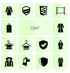 coat icons vector image
