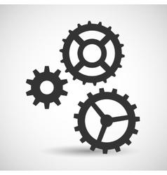 Cogwheel and development icon vector