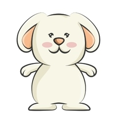 cute rabbit character isolated vector image