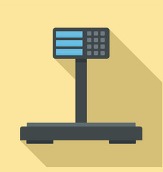 Digital supermarket scales icon flat style vector