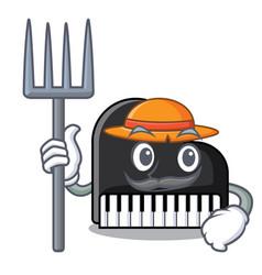 Farmer piano character cartoon style vector