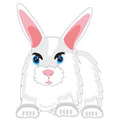 Feathery beast rabbit vector