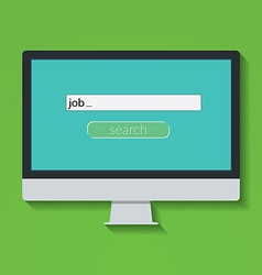 Flat design concept for online job Search on vector image