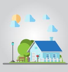 Flat design countryside house vector