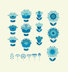 Flower horizontal design element template vector