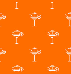 fruit cocktail pattern seamless vector image