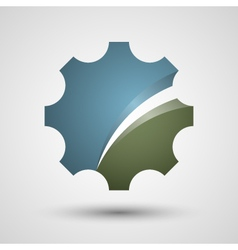 Gear logo design vector image