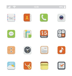 Generic smartphone UI icons vector image vector image