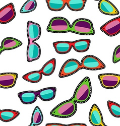 Hipster cartoon sunglass seamless background vector