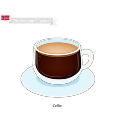 hot coffee a popular drink in norway vector image
