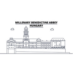 hungary - millenary benedictine abbey travel vector image