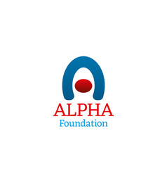 icon for alpha foundation vector image