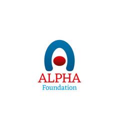 Icon for alpha foundation vector