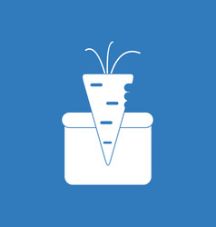 Icon turnip in soil vector