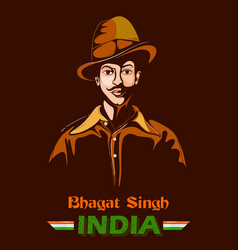 Indian background with nation hero and freedom vector