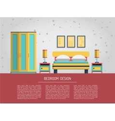 interior of bedroom vector image