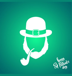 irishman with ginger beard wearing hat vector image