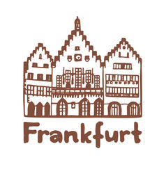 isolated romer in frankfurt in hand drawn style vector image