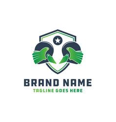 leaf-shaped spartan helmet logo vector image