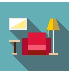Living room icon flat style vector
