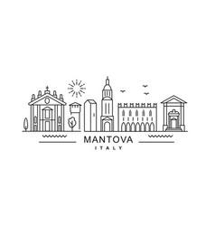mantova minimal style city outline skyline with vector image