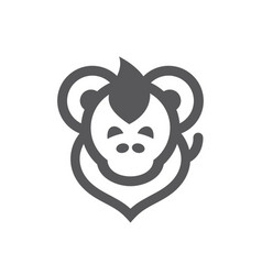 Monkey simple sign vector