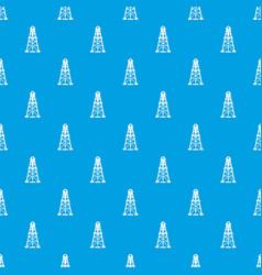 oil derrick pattern seamless blue vector image