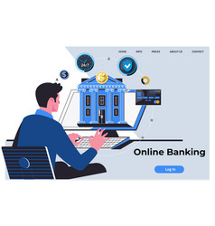 Online banking technology ecommerce commercial vector