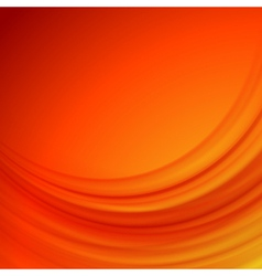 Orange smooth lines background vector image
