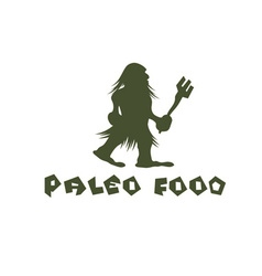 Paleo food caveman design template vector