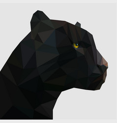 Panther in low poly vector