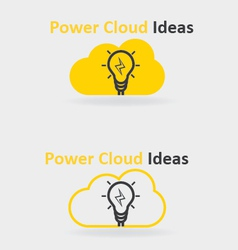 Power Cloud Ideas vector image