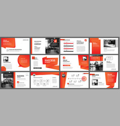 Presentation and slide layout template design red vector