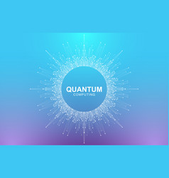 Quantum computer technology concept deep learning vector