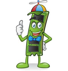 RAM Memory Card Cartoon vector image