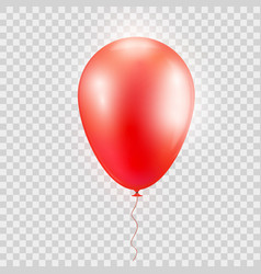 Realistic red baloon on isolated on abstract vector