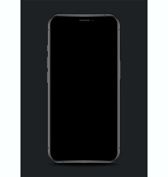 realistic smartphone with blank screen vector image
