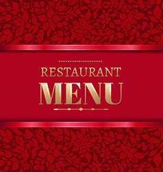 Red restaurant menu vector