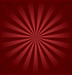 red retro ray background vector image
