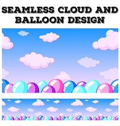 Seamless cloud and balloon in the sky vector image